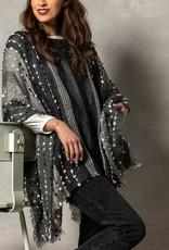 Textured Poncho Black