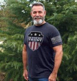 In God We Trust Blue Shield T-Shirt