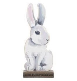 Some Bunny Loves You Wood Rabbit Sitter