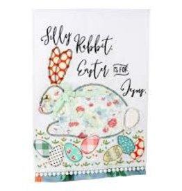 Easter is For Jesus Rabbit Tea Towel
