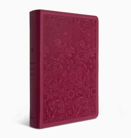 STUDY BIBLE, STUDENT TruTone Berry Floral Design