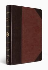ESV Large Print Wide Margin Bible  TruTone®, Brown/Cordovan, Portfolio DesignESV LRG PM WIDE MARGIN BIBLE