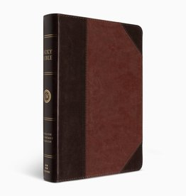 ESV Large Print Wide Margin Bible  TruTone®, Brown/Cordovan, Portfolio DesignESV LRG PM WIDE MARGIN BIBLE