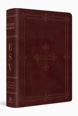ESV Study Bible, Personal Size  TruTone®, Crimson, Engraved Cross Design