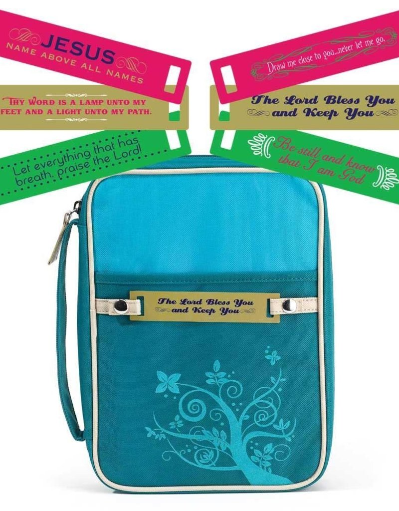 BIBLE COVER CHANGEABLE TAG LG TORQUOISE
