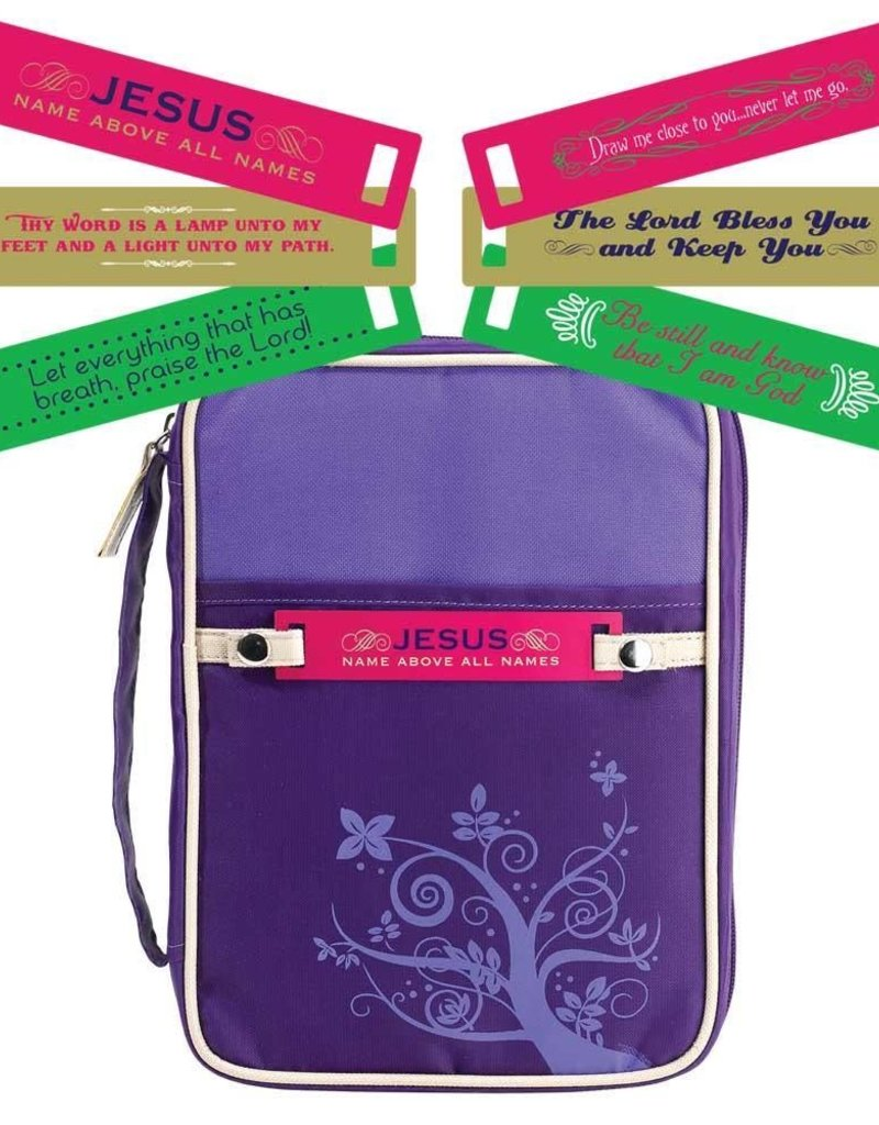 BIBLE COVER  CHANGEABLE TAG LG PURPLE