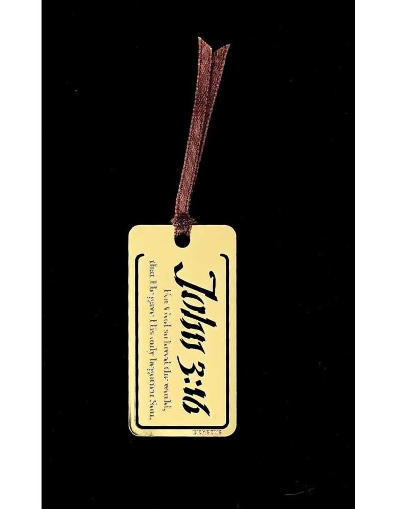 BOOKMARK MTL JOHN 3:16 BRASS