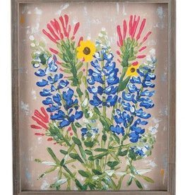 Texas Wildflower Framed Canvas