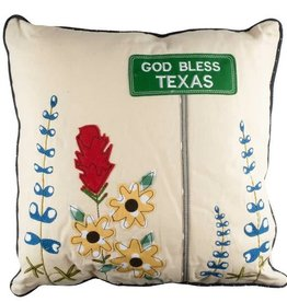 Blue Bonnet Pillow 18x18