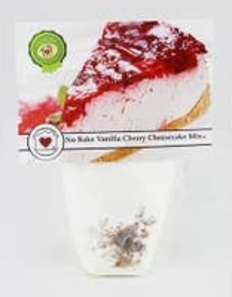 No Bake Vanilla Cherry Cheesecake Mix