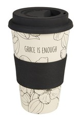 Bamboo Travel Cup-Grace Is Enough (13 Oz)