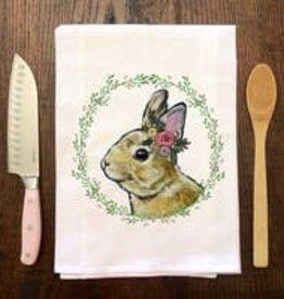 Pretty Bunny  Flour Sack Towel