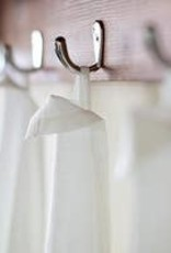 Flower B/W Rabbit Flour Sack Towel