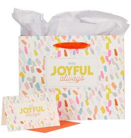 Gift Bag Large Be Joyful Always W/ Tissue Paper