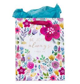 Be Joyful Always Medium Gift Bag w/Tissue Paper