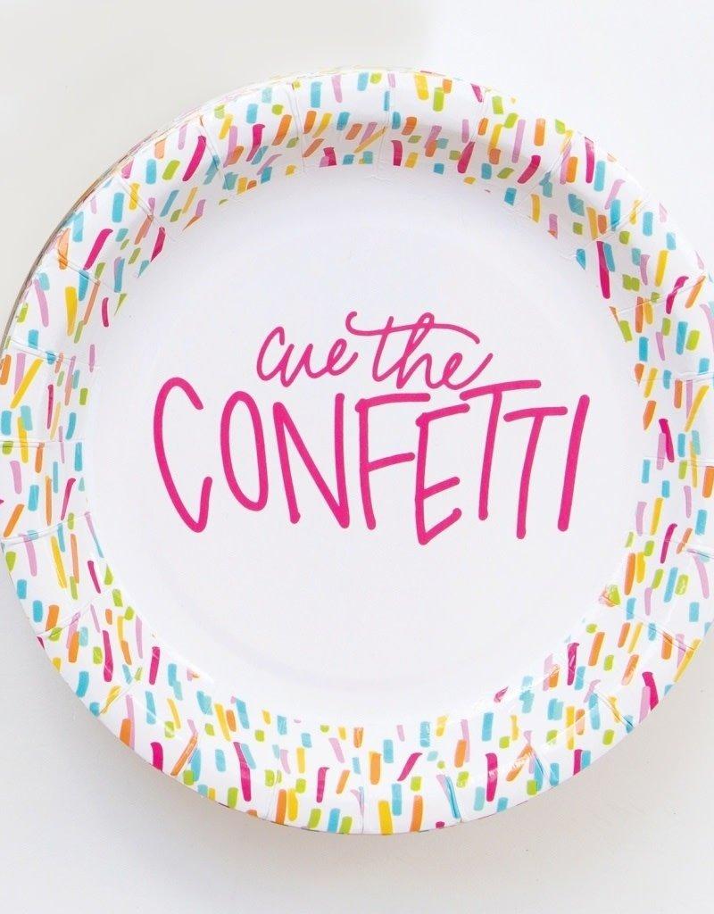 """Cue the Confeti  8"""" Plate"""
