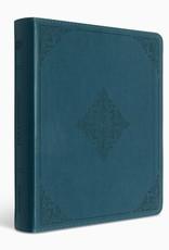 Journaling Bible Trutone, Deep Teal, Fleur-de-lis Design