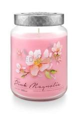 T&T Pink Magnolia Large Jar Candle