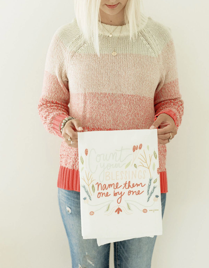 Count Your Blessings Flour Sack Towel