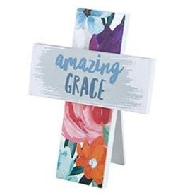 Easel Cross - Amazing Grace