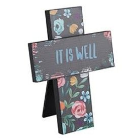 Easel Cross- It Is Well