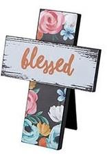 Easel Cross- Blessed