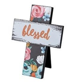 Easel Cross- Blessed