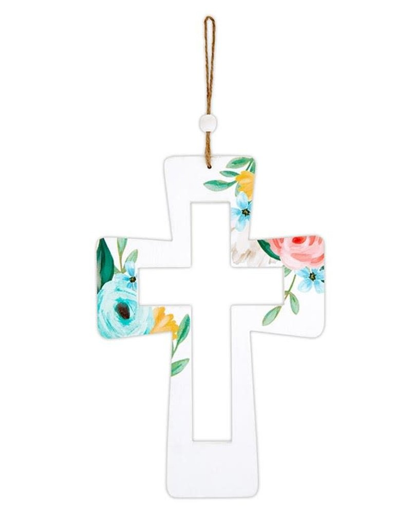 """Hanging Cross - Rooted in Love - 12"""""""