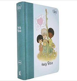 NKJV, Precious Moments Small Hands Bible, Teal, Hardcover, Comfort Print