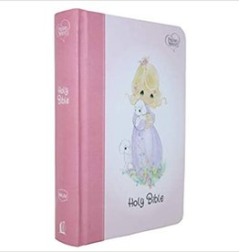 NKJV, Precious Moments Small Hands Bible, Pink, Hardcover, Comfort Print