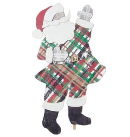 Plaid Santa topper