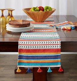 Picante Striped Tassel Table Runner