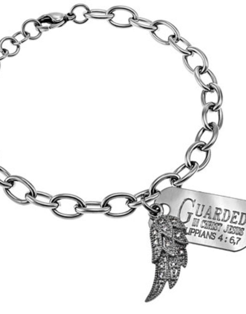 Chunky Bracelet With Wing/ J3:17