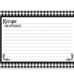 Blk/Wht Check Recipe Cards
