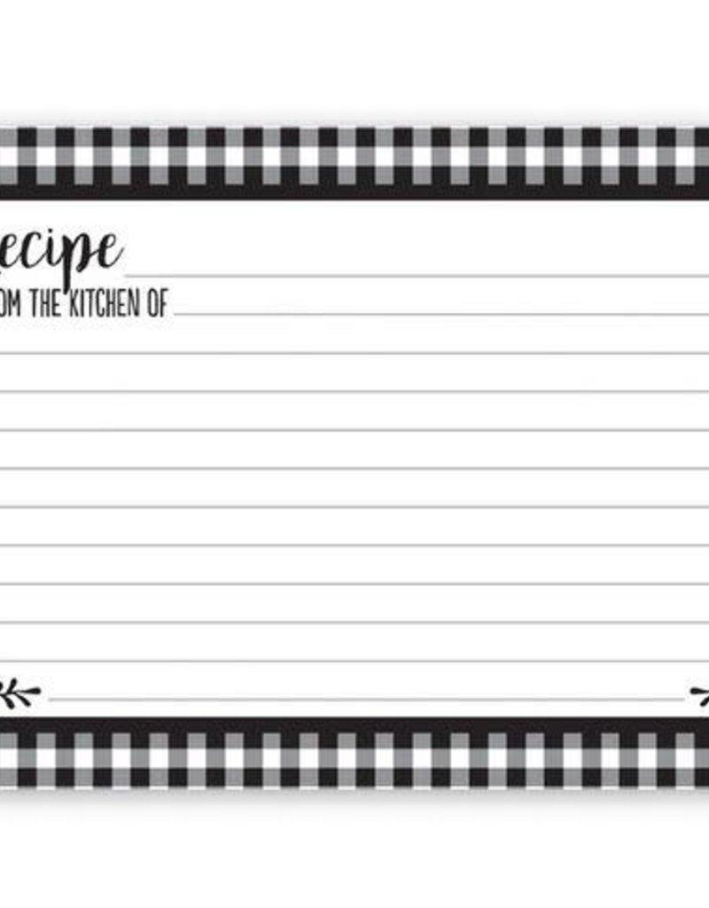 Blk/Wht Check Recipe Cards