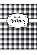 Blk/Wht Check Recipe Binder