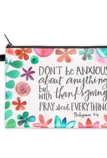 Pray More Worry Less Zippered Bag