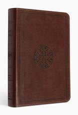 ESV Large Print Compact Bible  TruTone®, Brown, Mosaic Cross Design