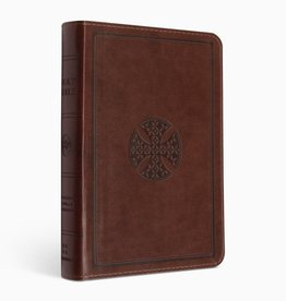 ESV Large Print Compact Bible  TruTone®, Brown, Mosaic Cross Design