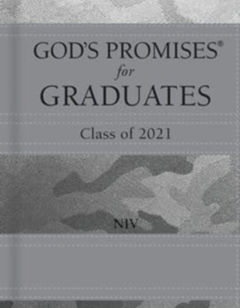 NIV God's Promises for Graduates, Class of 2021--hardcover, silver camouflage