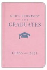 NKJV God's Promises for Graduates, Class of 2021--hardcover, pink