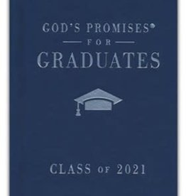 NKJV God's Promises for Graduates, Class of 2021--hardcover, navy