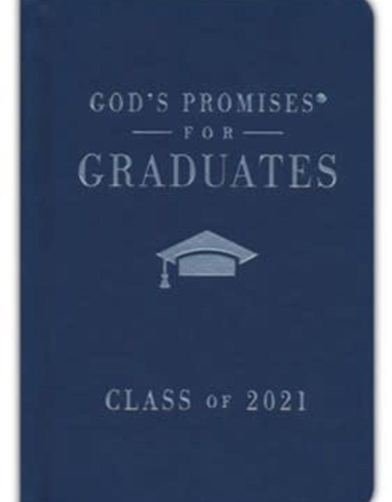 NKJV God's Promises for Graduates, Class of 2021--hardcover, navy