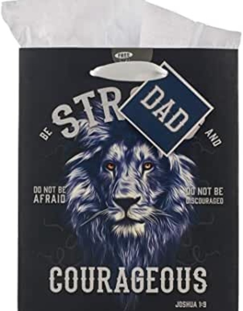 Gift Bag Set | Strong & Courageous Dad Joshua 1:9