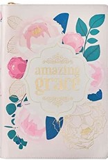 Amazing Grace Pink/Gold Floral Faux Leather Classic Journal