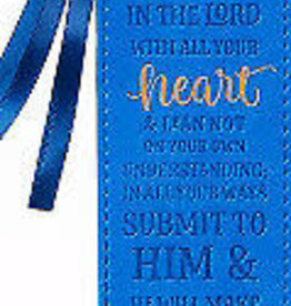 Trust in the Lord LuxLeather Bookmark - Proverbs 3:5-6