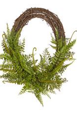 """28"""" Oval Mixed Fern Wreath"""
