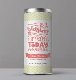 "Bible Verse Tea ""Be A Blessing"" Pina Colada Herbal Tea"
