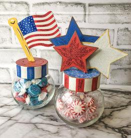 Patriotic Buble Jars