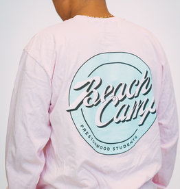 Beach Camp Pink LS T